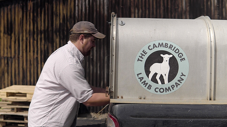Young farming entrepreneur relies on high quality inputs to drive continued growth in direct lamb sales
