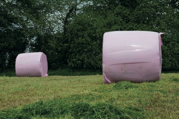 Pink bales raise over £50,000 in three years