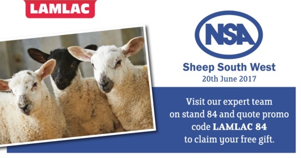 Visit us at NSA Sheep South West for your free gift